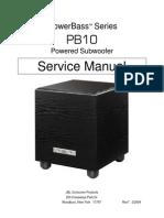 JBL PB-10 Service Manual