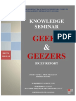 Geeks & Geezers Brief Report