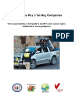 Police in the Pay of Mining Companies