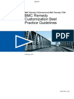 BMC Remedy Customization Best Practice Guidelines