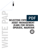 White Paper Selecting Enterprise Asset Management EAM for Design Operate Maintain