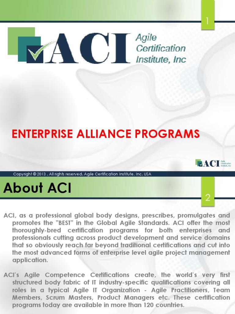 Agile Certification Institute Aci Corporate Programs Agile