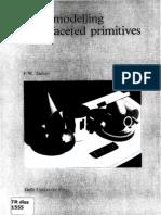 solid modelling for faceted primitives