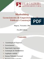 Licenciamento empreiteiros em Moçambique