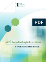 Accredited Agile Practitioner Certification Handbook