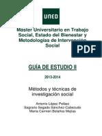 Guia II Asignatura Investigacion Master Trabajo Social 2013 2014