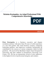 Nicholas Kostopulos- An Adept Professional With Comprehensive Knowledge