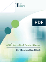 Accredited Product Owner Certification Hand book