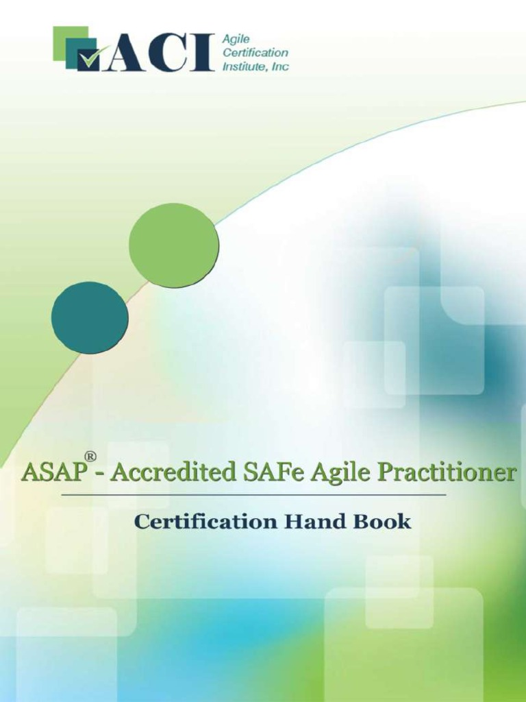 Accredited Safe Agile Practitioner Handbook Agile Software
