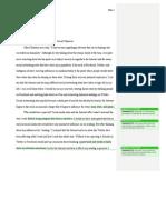 engl 1101 literacy narrative second draft