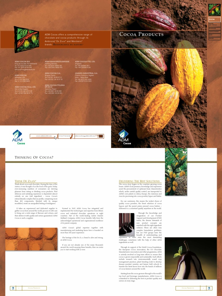 ADM Cocoa Products | Chocolate | Food And Drink