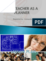 The Teacher as a Planner
