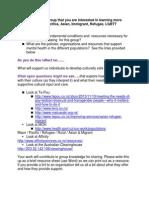 Worksheet - Cultural Groups
