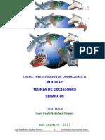 Unidad II Teoria de Decisiones SEMANA 9 - 2013-I 20.06.13