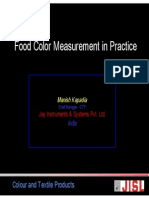 Konica Minolta Food Color Measurement