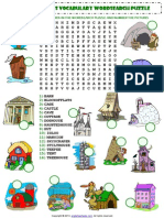 Home House Types Wordsearch Puzzle Vocabulary Worksheet
