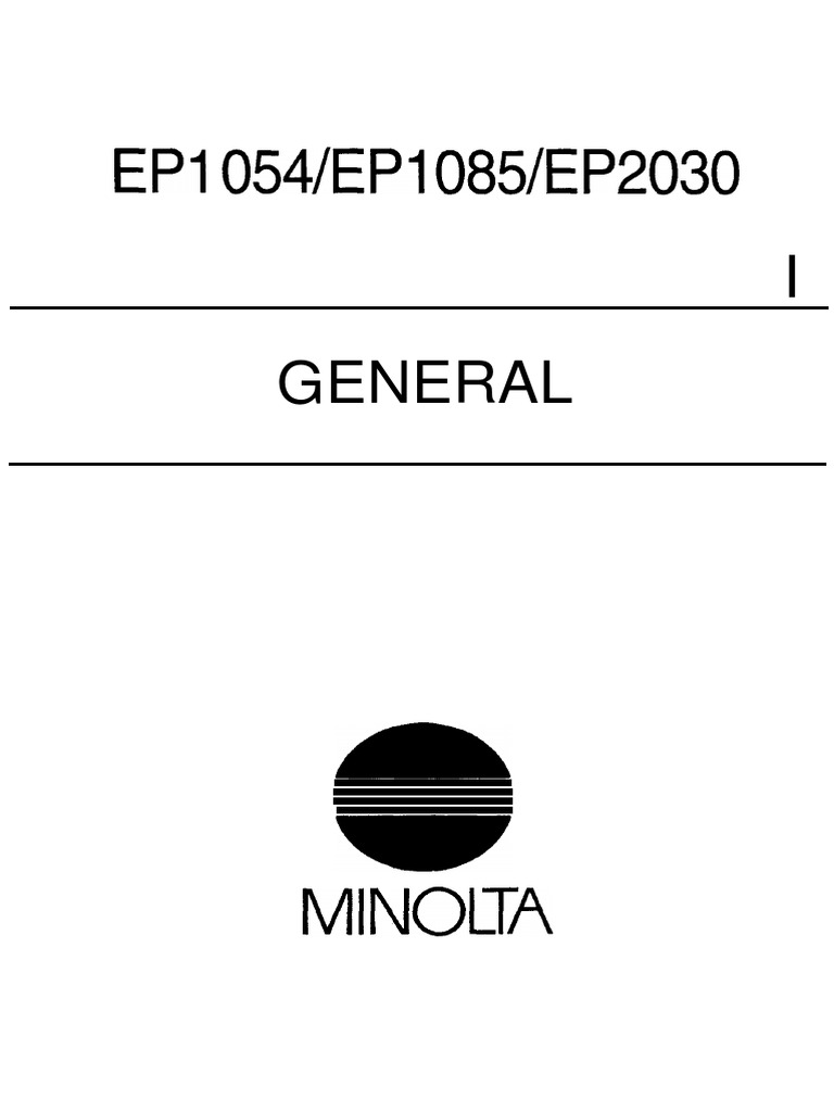 Konica-Minolta EP 1054,1085,2030 Service Manual | Ac Power Plugs And  Sockets | Mains Electricity