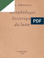 Ernout, Morphologie Historique Du Latin
