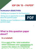 Iesl - Workshop on b Paper