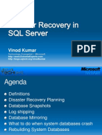 Disaster Recovery With SQL Server