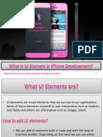 What is UI Element in iPhone Developmetn
