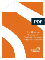 K-4 Science GLCE Companion Document v.1.09!2!264479 7