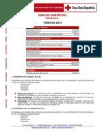 Ambulancia Tarifas Preventivos 2013