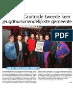 HBVL 3/12/'13 - Meeuwen-Gruitrode Jeugdhuisvriendelijkste Gemeente 2013