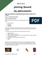 Exploring Sound Body Percussion