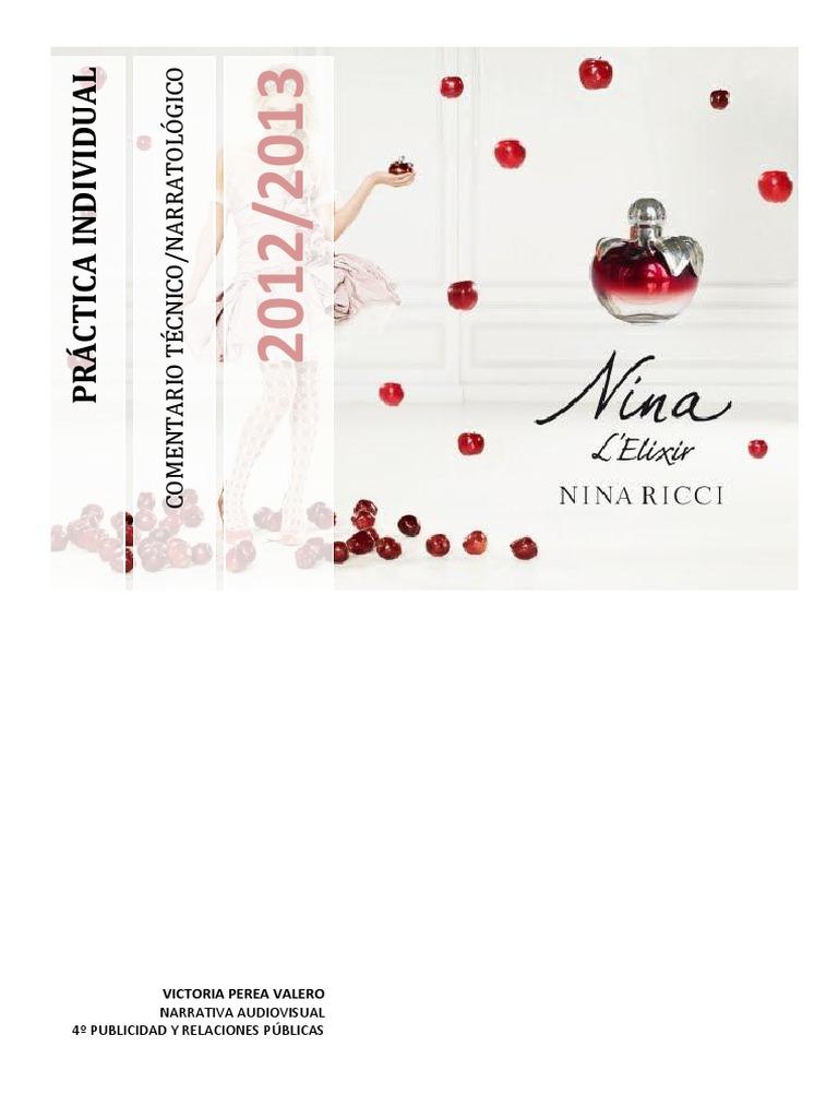 c95f60925 Práctica Guión Nina Ricci   Narración   Movimiento (Física)