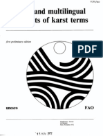 Glossary and Multilingual Equivalents of 227 Karst Terms