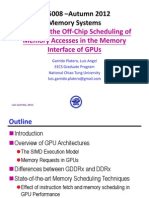 1. Scheduling of Memory Accesses in the Memory Interface of GPUs - Luis