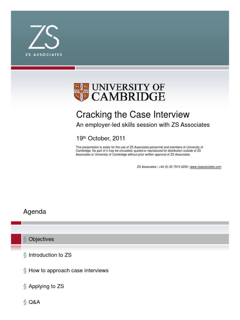 zs case study 11 university of cambridge interview