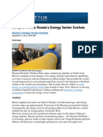 Russian Energy Sector Evolves