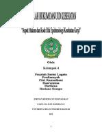 HUKUM DAN UUD_aspek Hukum Dan Kode Etik Epidemiologi Kesehatan Kerja KELOMPOK 4
