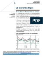 "US Economics Digest, Credit Suisse, Nov 25, 2013. ""  By Any Measure, US Labor Costs are Subdued"""