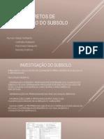 Métodos diretos de investigação do subsolo