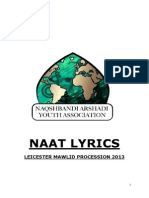 121301227 Naat Lyrics Leicester Mawlid Procession 2013
