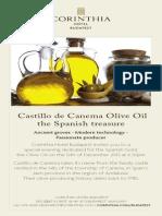 Spanish Olive Oil Dinner