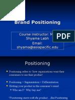 Brand Positioining