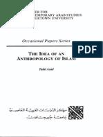 Talal Asad the Idea an Anthropology of Islam
