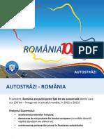 Noul plan de autostrăzi, prezentat de premierul Victor Ponta pe 3 decembrie 2013
