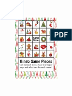 Bingo Game Pieces
