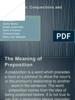 Preposition, Conjunction and Participles