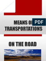 Others Means of Transportations