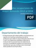 Las Diez Ocupaciones de Mayor Demanda 2012 Al Jonathan