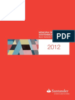Banco Santander- Memoria de Sostenibilidad 2012