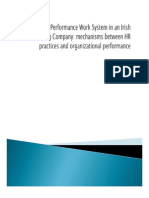 High Performance Work Systems