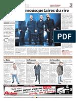 2013.11.29 Journal de Morges Les 4 Sans Voix