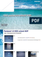 HDD Password Unlock SOP